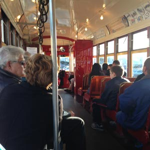 Image of Inside the Riverfront Line Streetcar