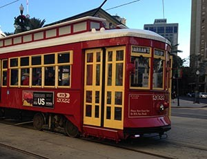 Image of One of the Canal Lines streetcars