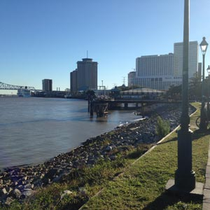 Image of View of New Orleans Downtown from Riverfront