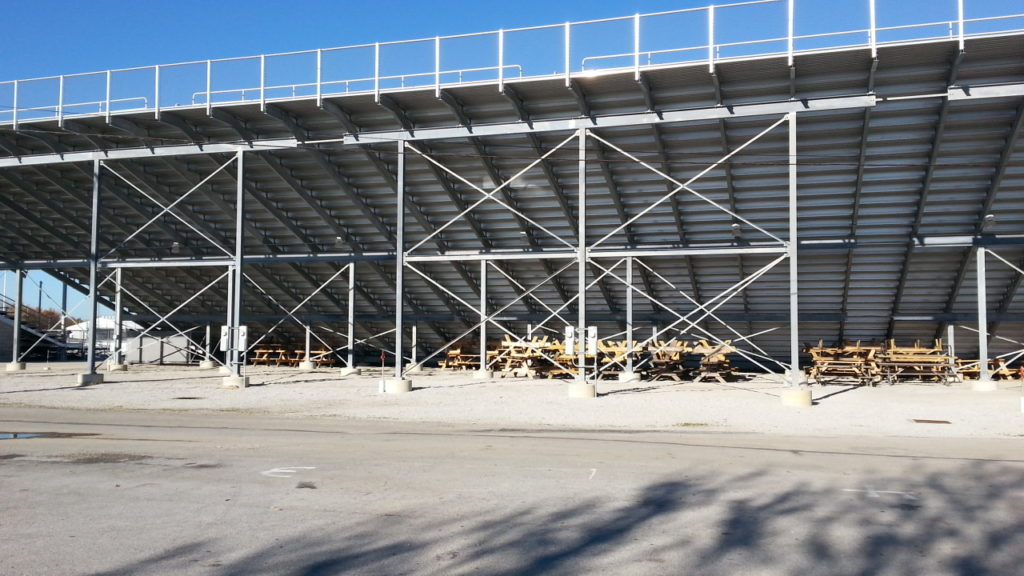 image of the grandstands at the fairgrounds